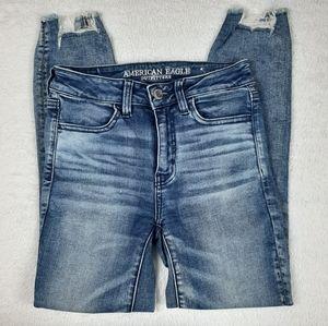 American Eagle Hi Rise Stretch Jegging Crop Jeans